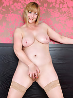 Big tit MILF pleases her juicy tight pussy until she squirts